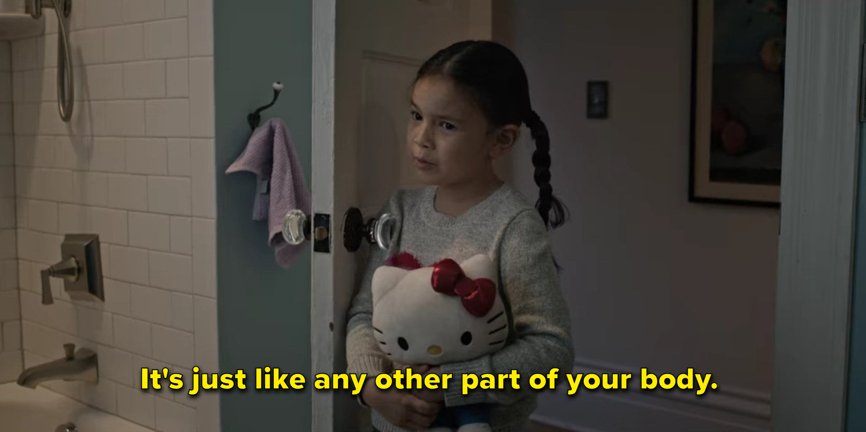 Ju Ju tracks down babysitter in the bathroom