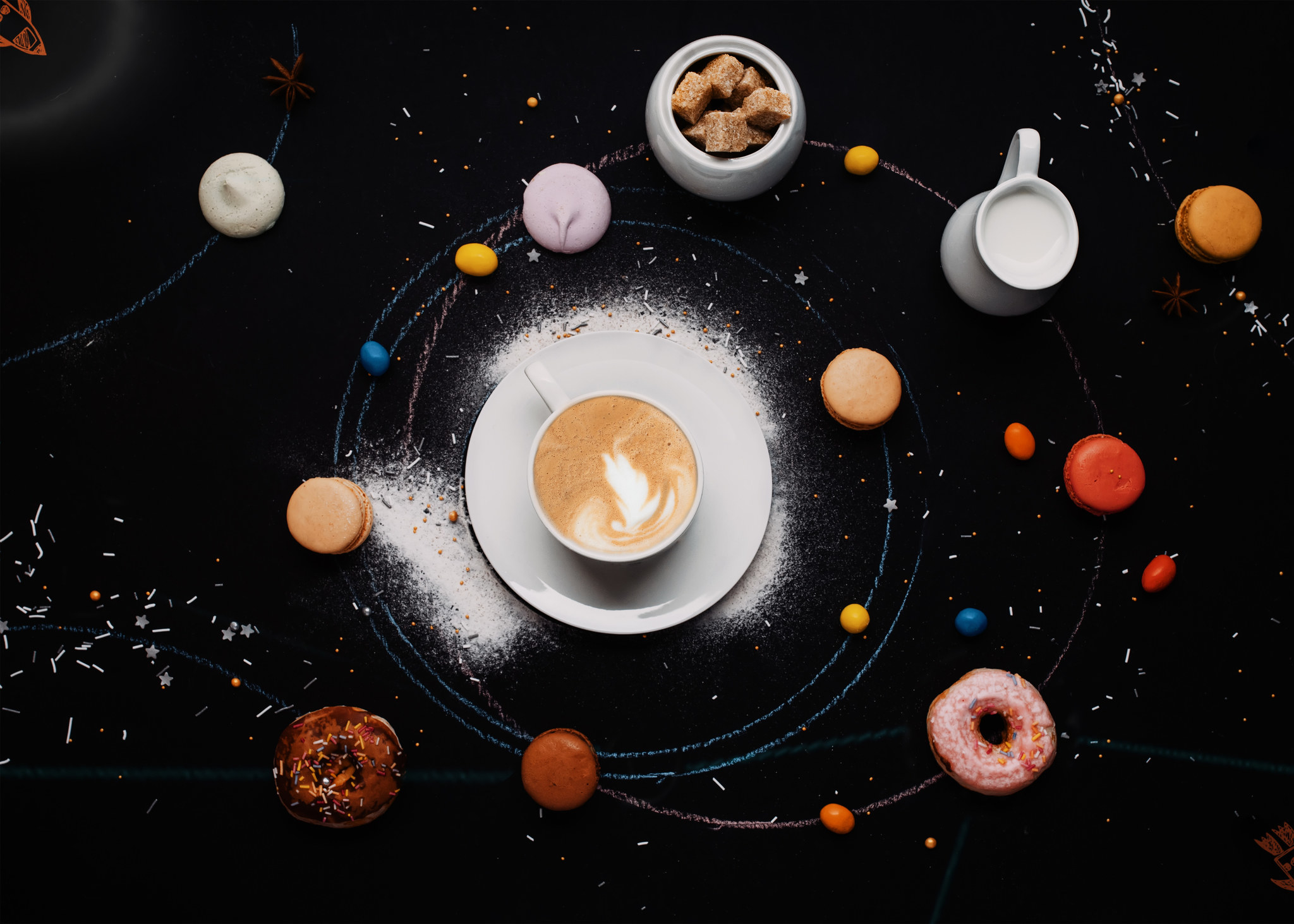 a cappuccino at the center of the universe