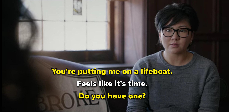 Lila asks Ji-Yoon if she has a lifeboat.