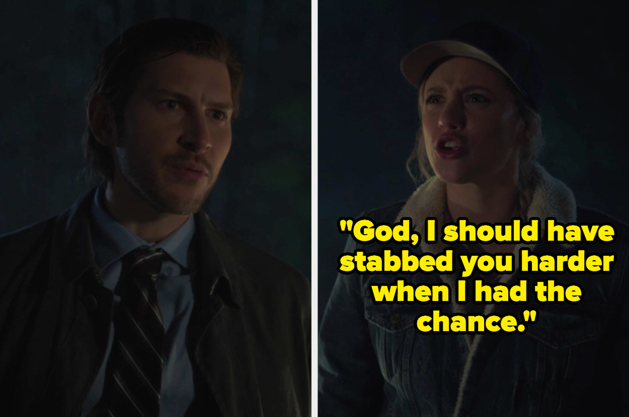 Betty says god I should have stabbed you harder when I had the chance to glen