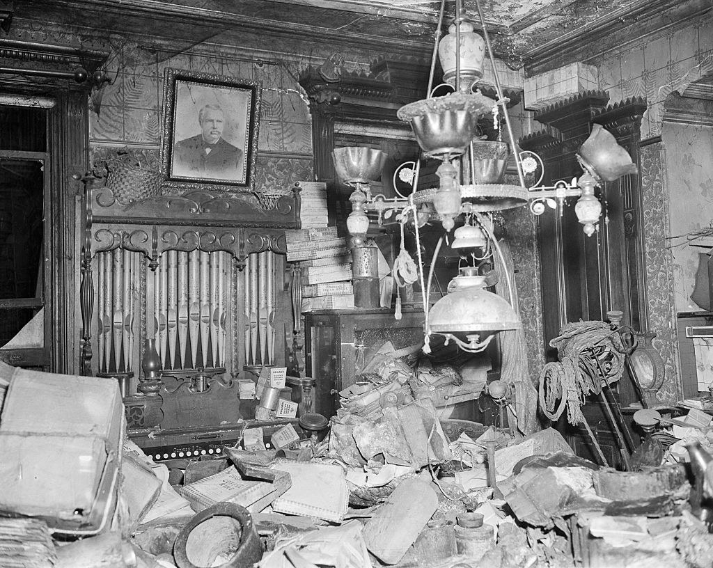 The interior of the brownstone