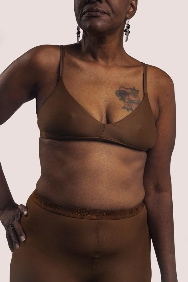 model wearing bralette