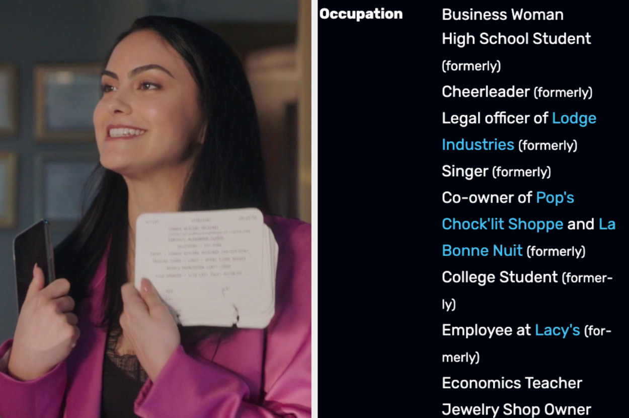 Veronica next to her list of jobs