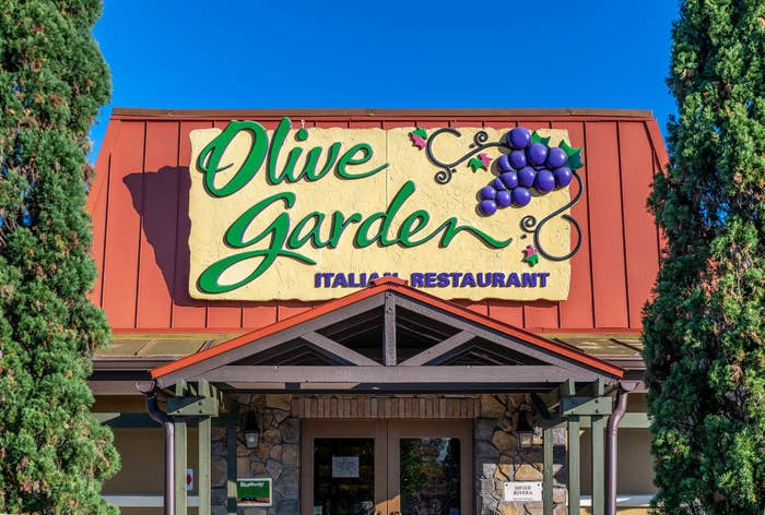 The front of Olive Garden