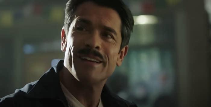 Mark Consuelos with a mustache