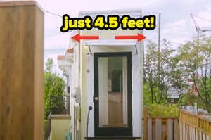 A tiny home that's only 4.5 feet wide