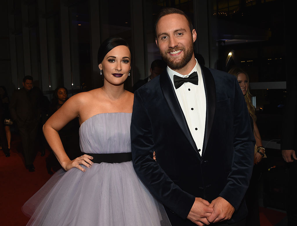 Kacey Musgraves and Ruston Kelly attend the 50th annual CMA Awards