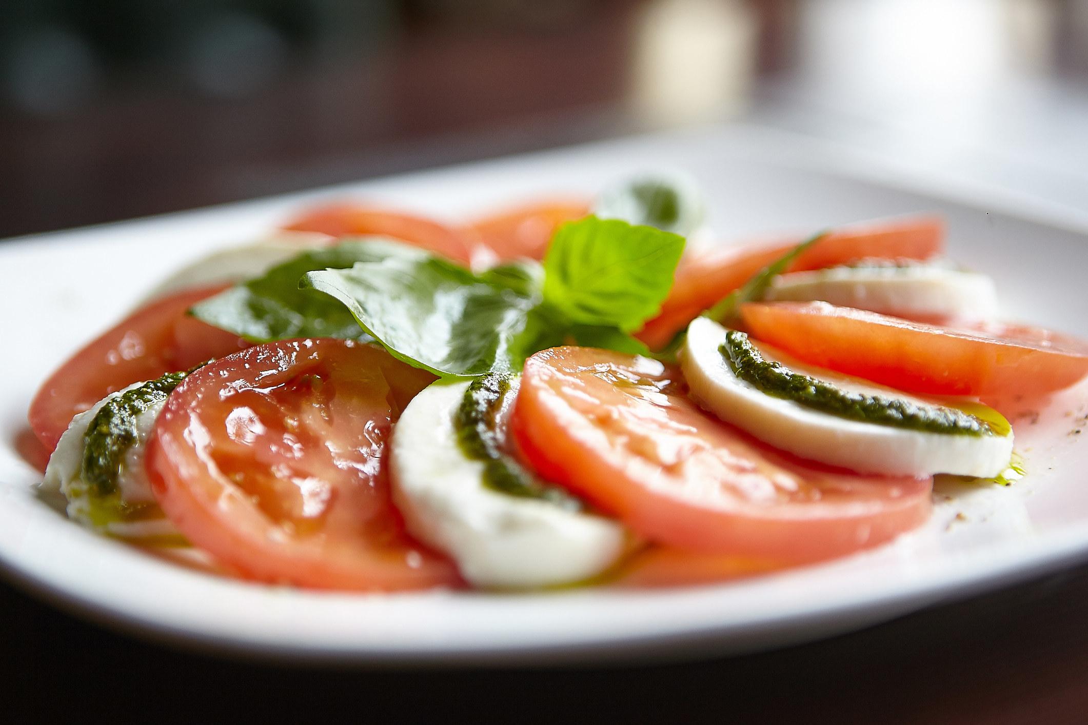 A fresh caprese salad.