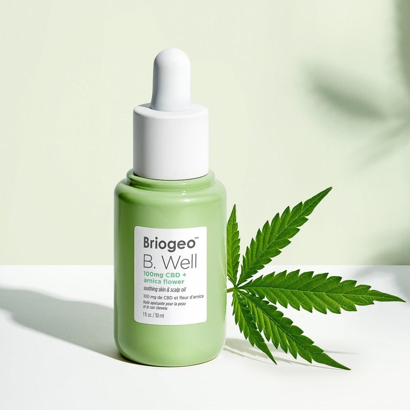 a bottle of briogeo b well CBD oil