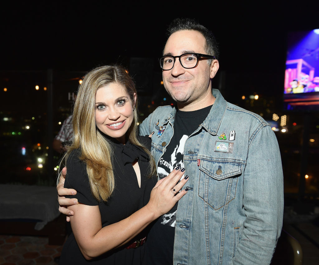 Fishel and Karp at a premiere party
