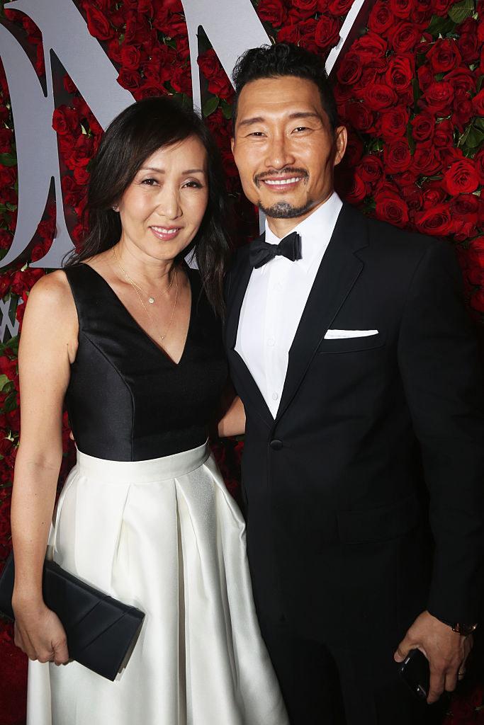 Daniel Dae Kim and Mia Kim pose at the Tony Awards