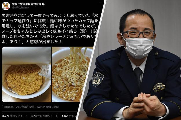 """「カップ麺は水でつくれる」警視庁の防災ツイートはなぜバズる? """"中の人""""が明かした熱い思い"""
