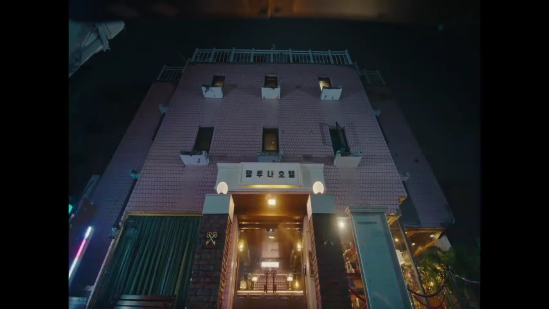 Picture of pink hotel