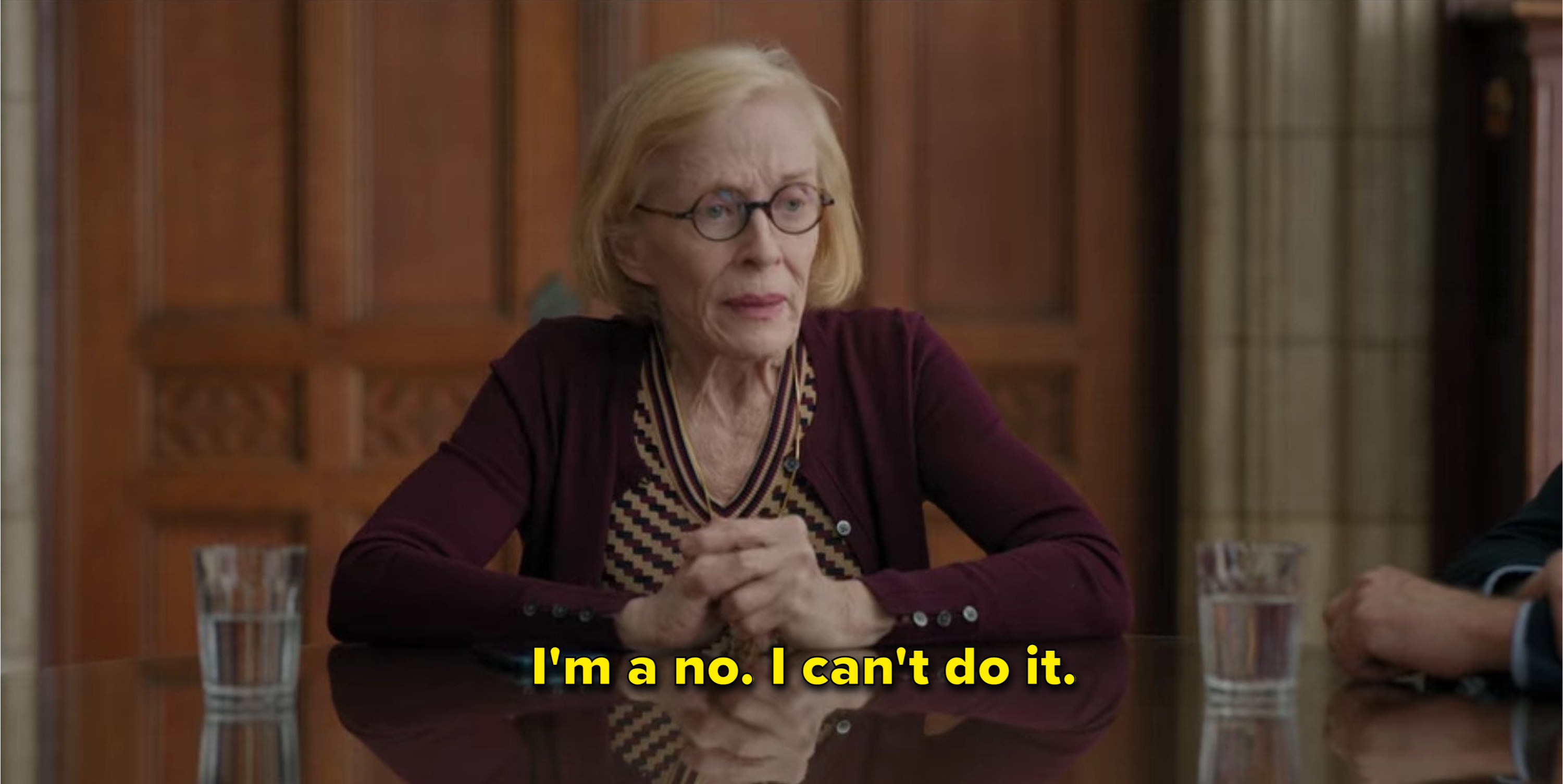 Joan says she can't do it
