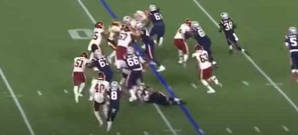 Patriots running play