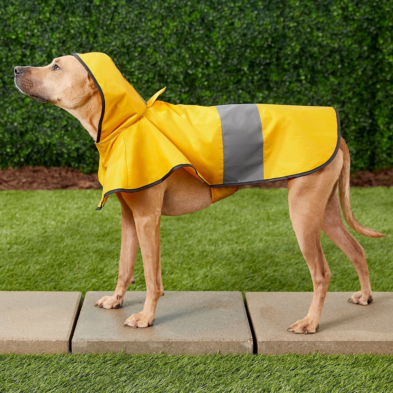A raincoat with hood.