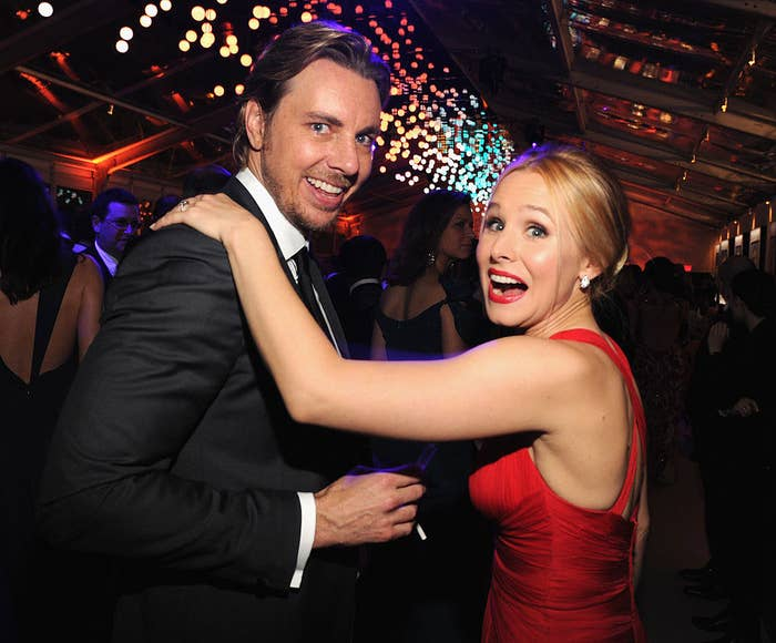 Dax Shepard and Kristen Bell attend the 2014 Vanity Fair Oscar Party