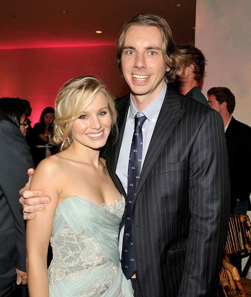 """Kristen Bell and Dax Shepard pose at the afterparty for the premiere of Universal Pictures' """"Couples Retreat"""""""