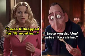 """Side-by-side of Elle Woods and food critic Anton from """"Ratatouille"""""""