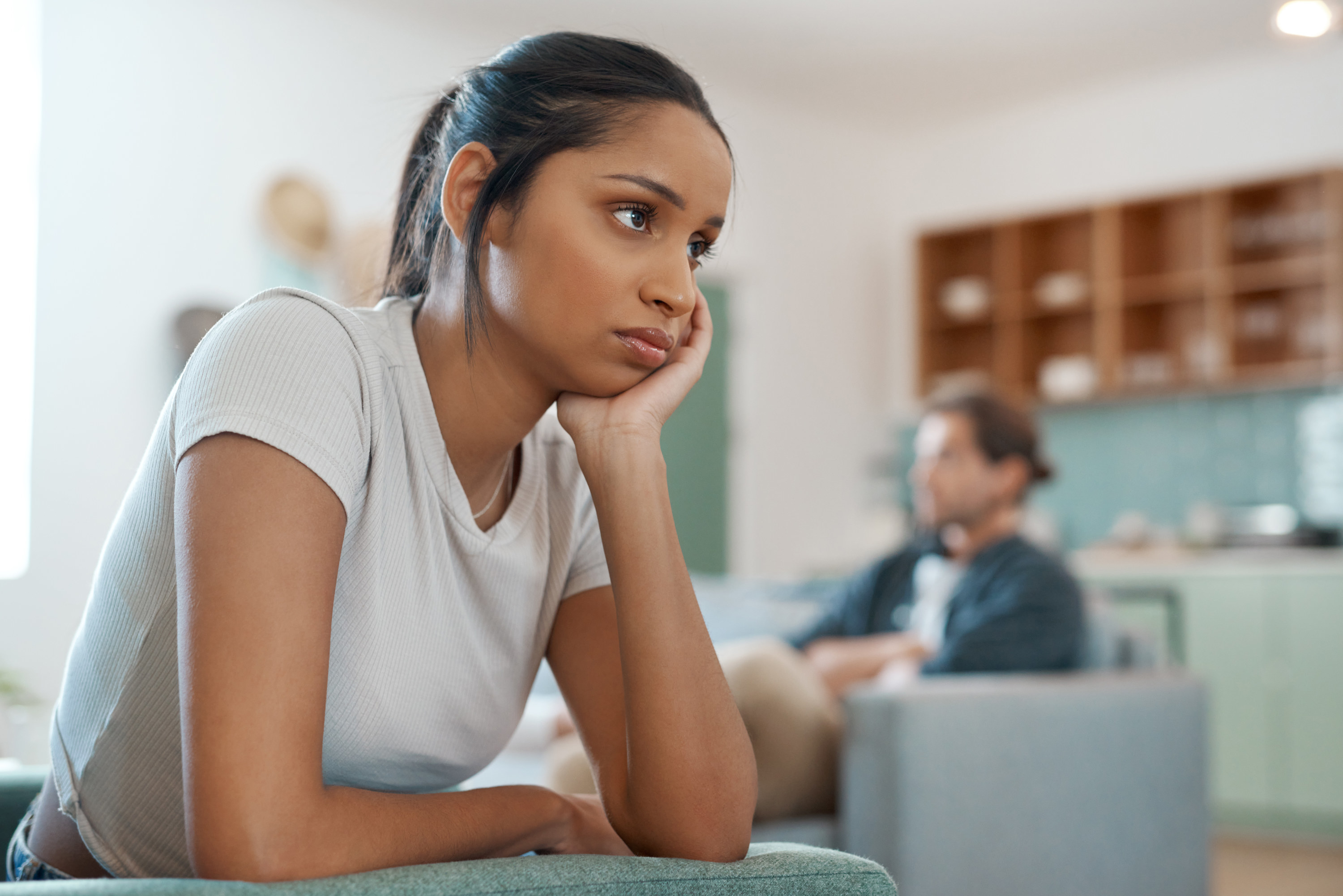unhappy woman in relationship