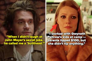 John Mayer during an Apple Music interview; Gwyneth Paltrow in