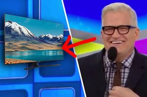 Drew Carey asking you about the price of a Samsung TV