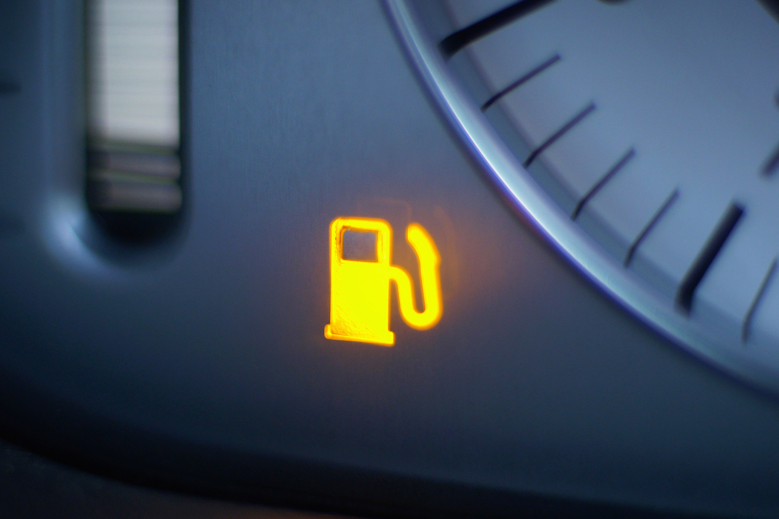 A fuel tank light that's on