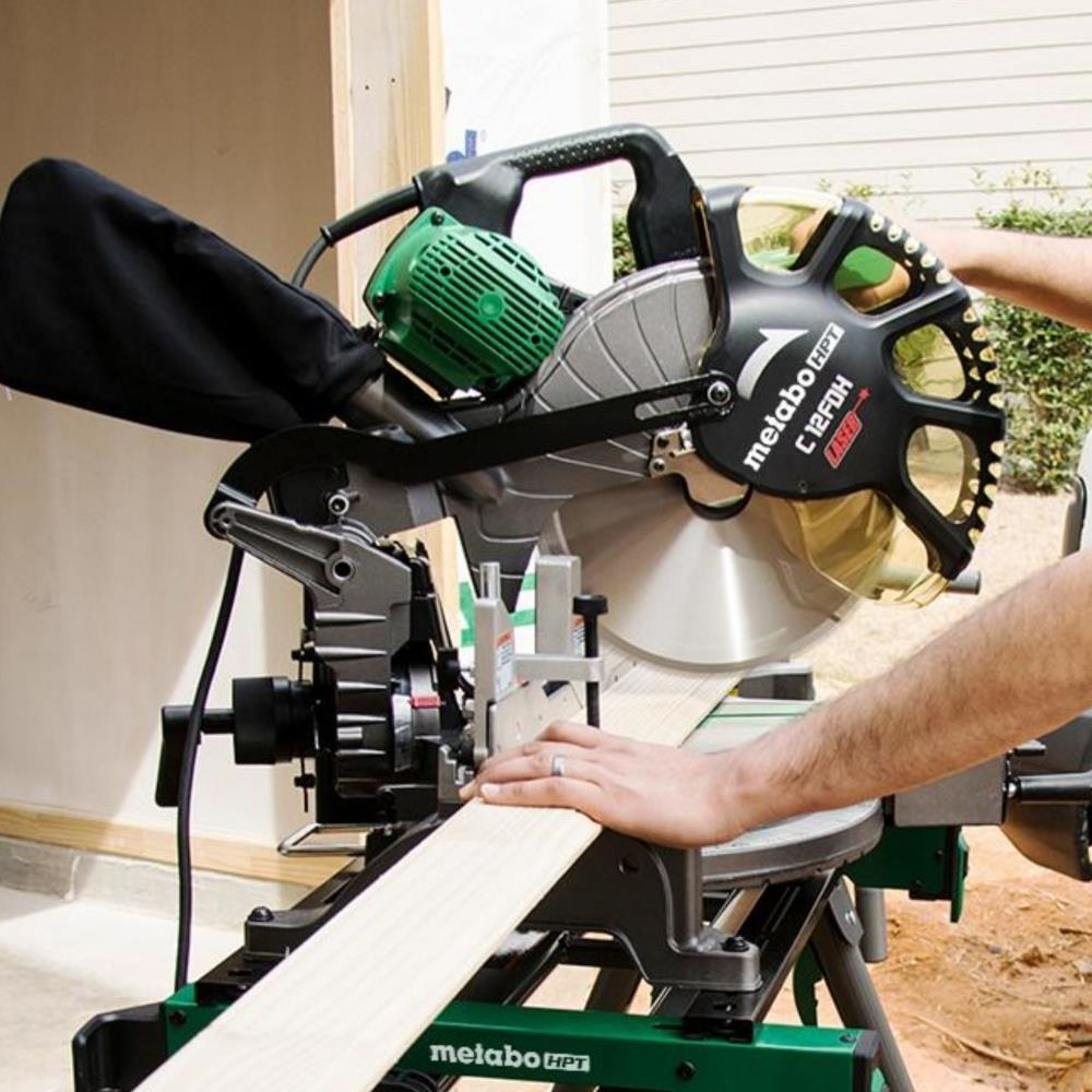 An image of a 12-inch dual compound miter saw