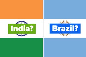 Flags for India and Argentina