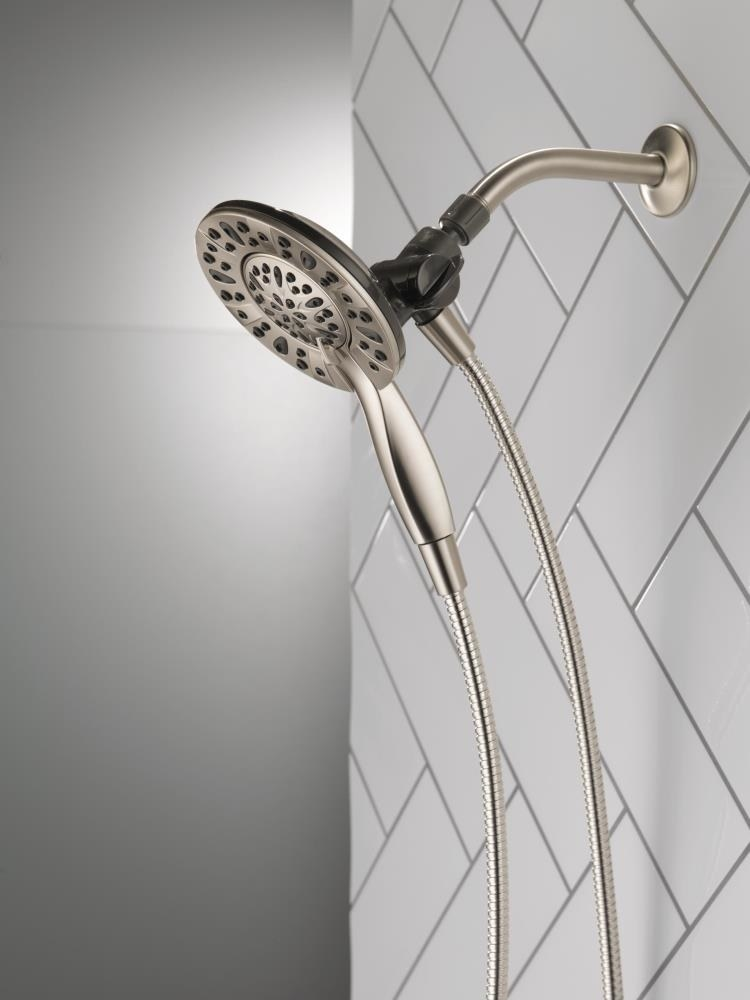 A four-spray dual shower head