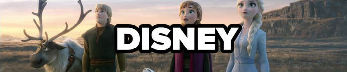 DISNEY, with the cast of Frozen