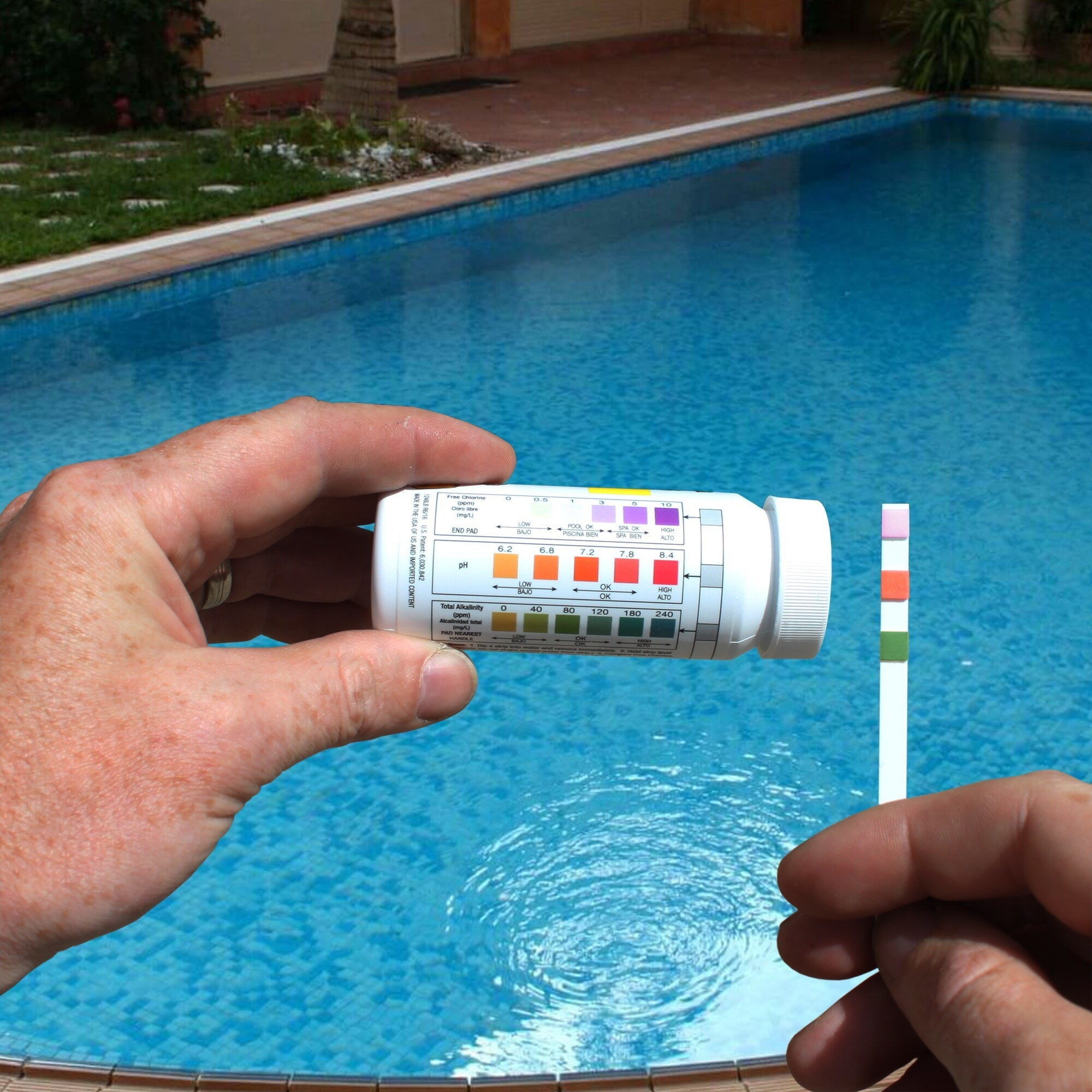An image of pool and spa test strips