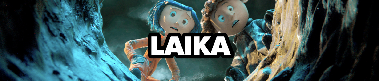 LAIKA, with Coraline and Wybie in the background