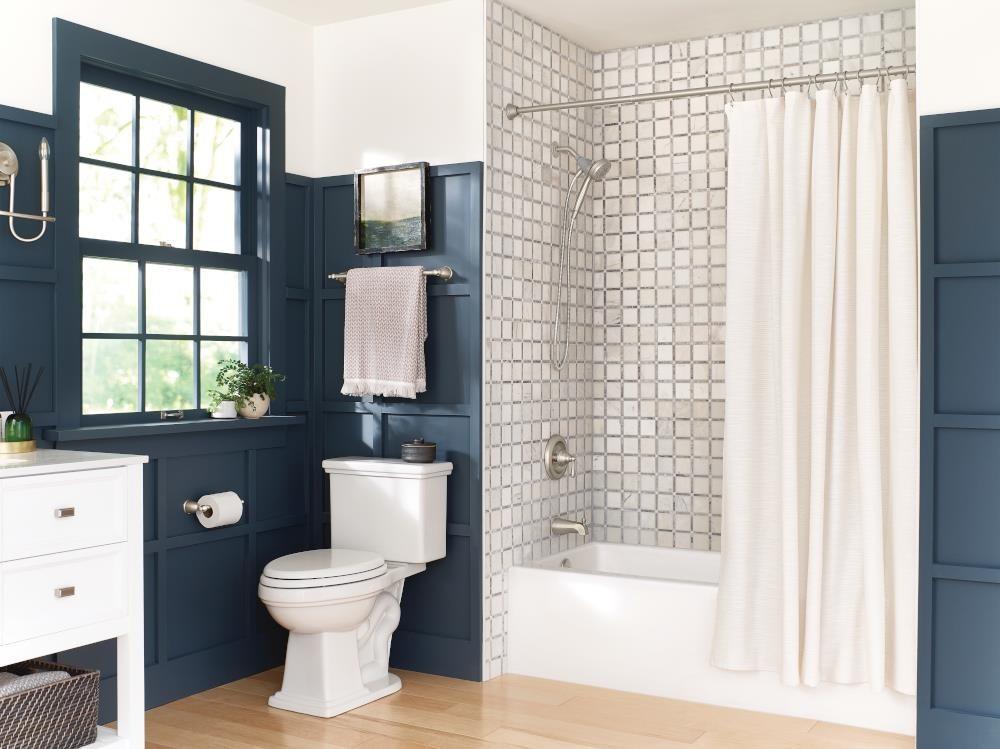 A three-piece bathroom hardware set