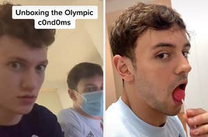 unboxing the condoms and tom daley with a lollipop