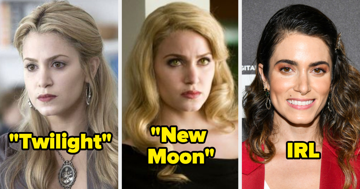 Nikki Reed's hair in Twilight, New Moon, and IRL