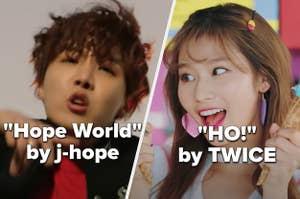 j-hope singing Hope World next to twice singing ho!