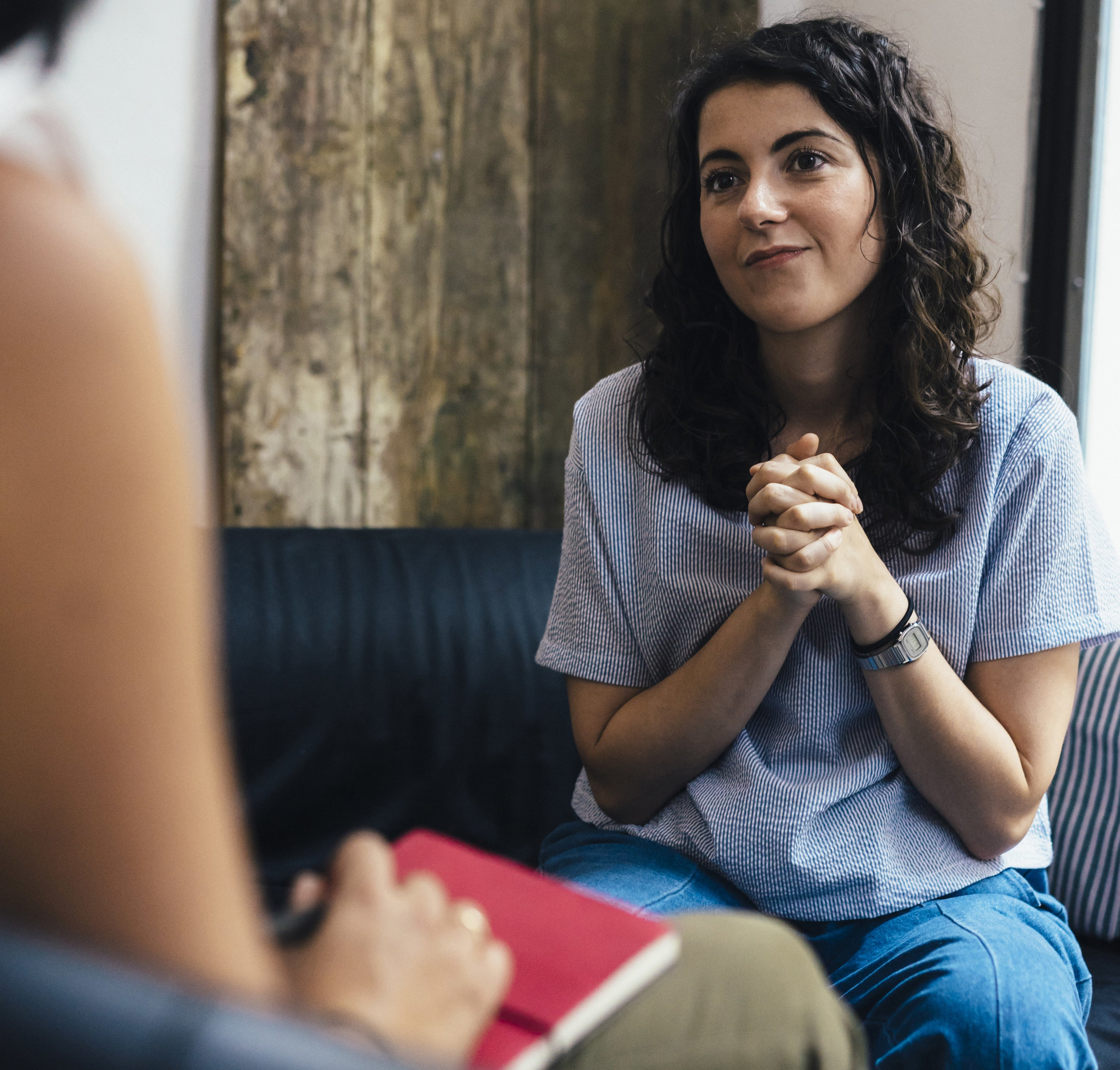 Woman during a psychotherapy session