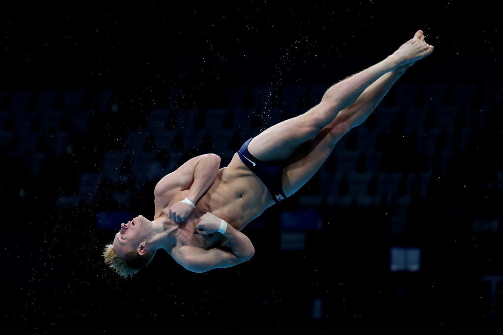 Capobianco in the Men's 3m Springboard Final in the Tokyo 2020 Olympic Games
