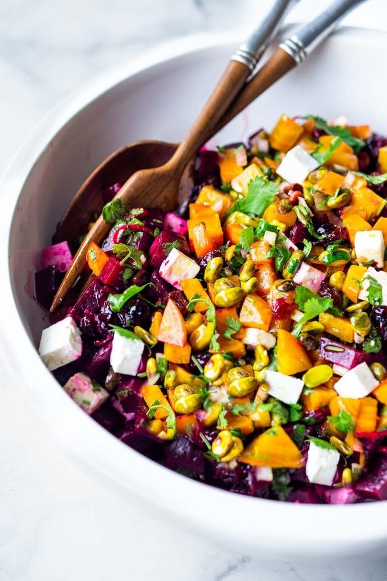 Beet Salad with Feta and Pistachios