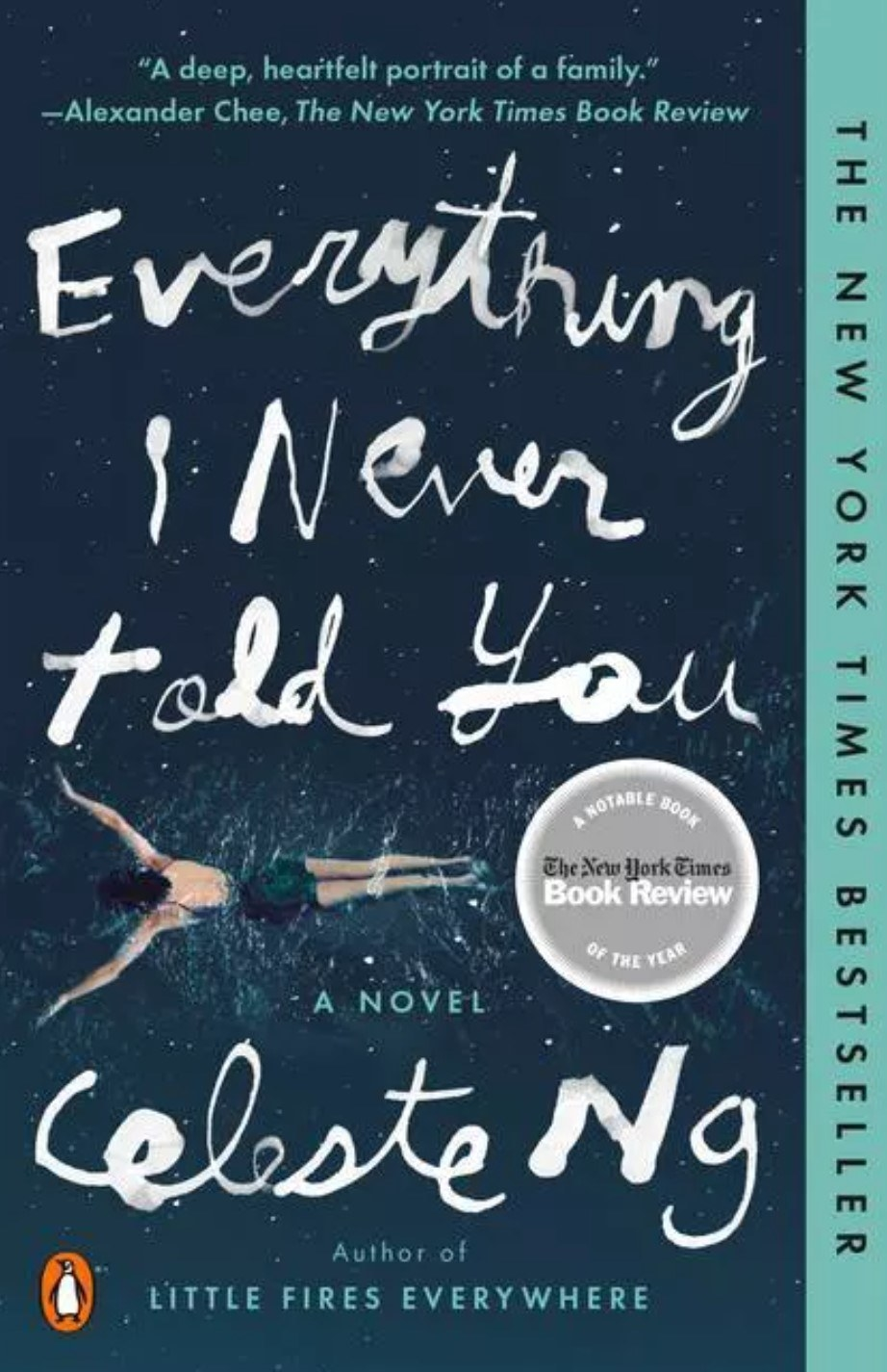 The cover of Everything I Never Told You by Celeste Ng