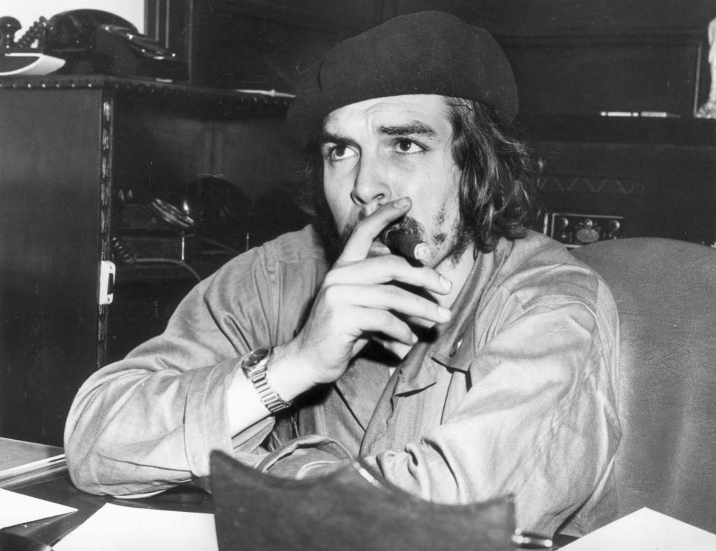 A man smoking a cigar