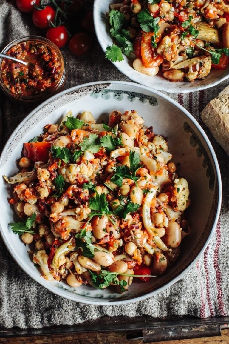 Cauliflower, Fennel and White Bean Salad