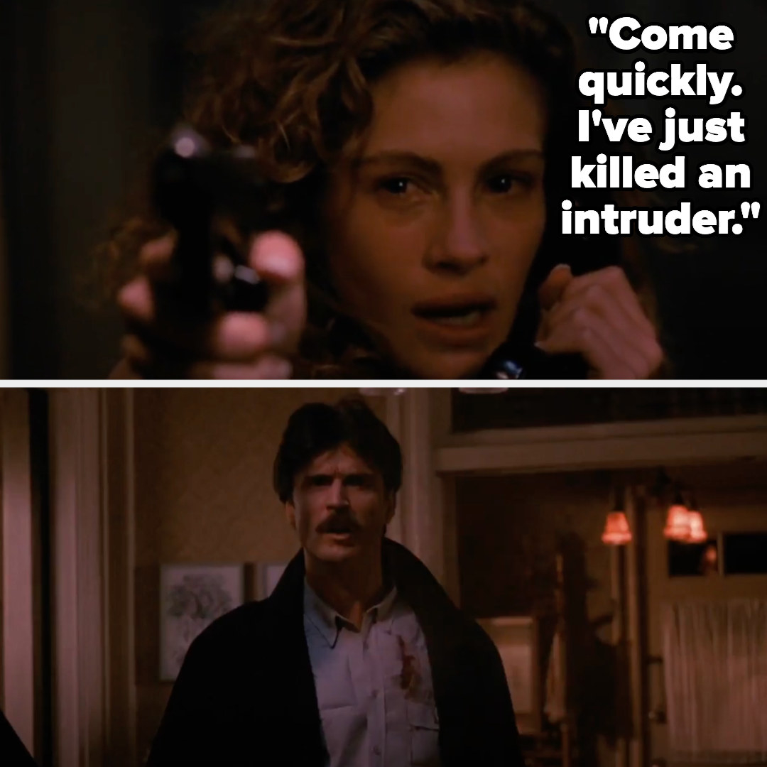 """Laura says """"come quickly, i've just killed an intruder"""" then shoots Martin"""