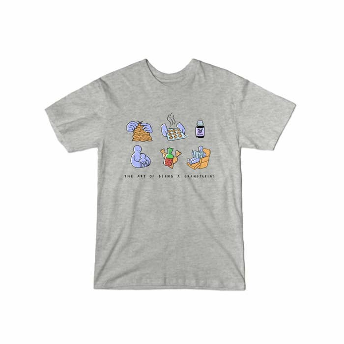 The T-shirt in the color Heather Grey