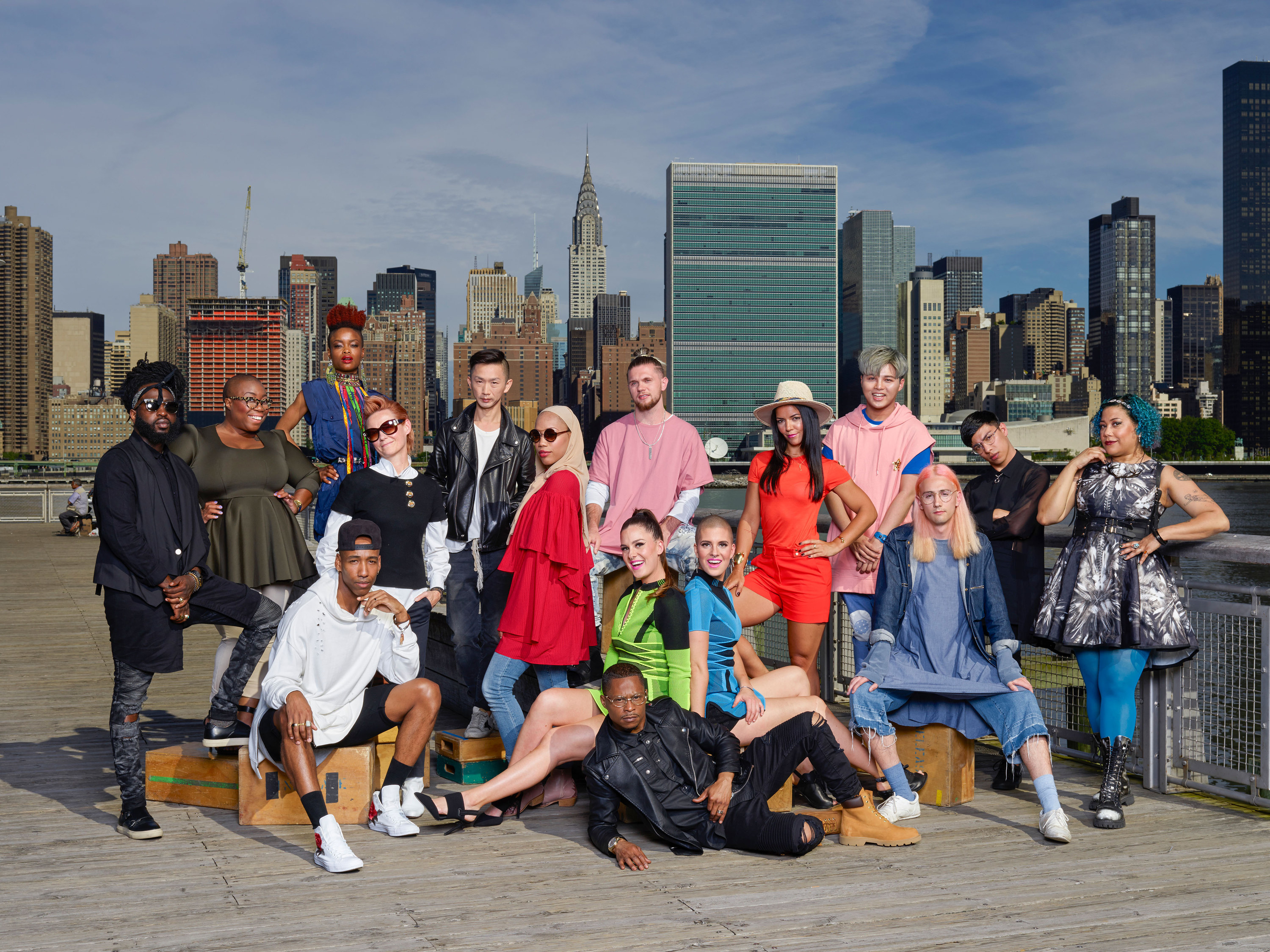 the cast of Season 16 of Project Runway