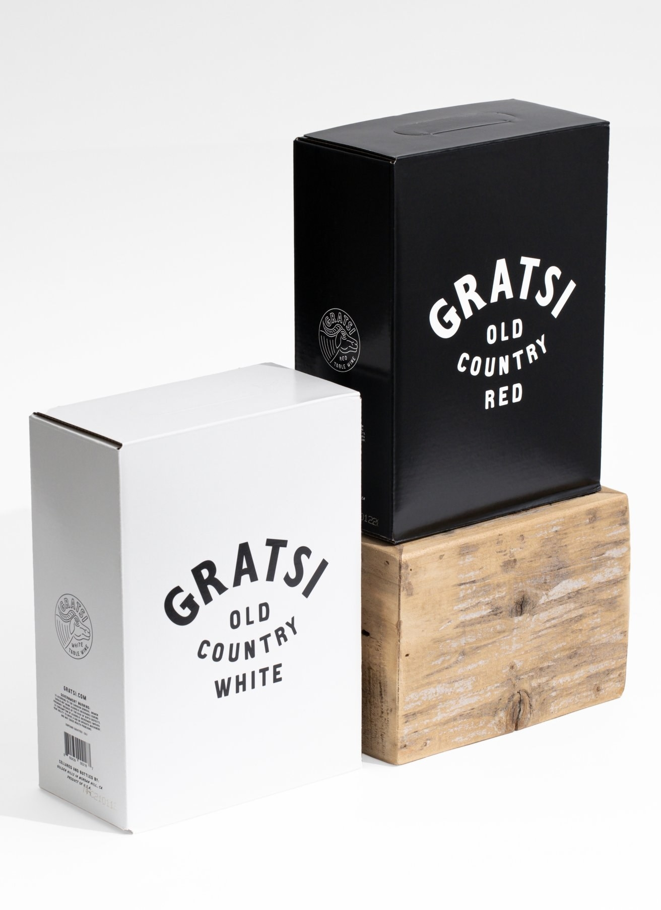 a box of the red and a box of the white Gratsi old country wines