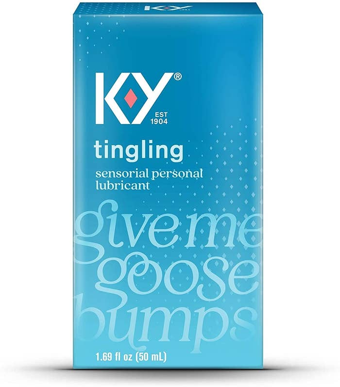 Blue box of KY Give Me Goose Bumps lubricant