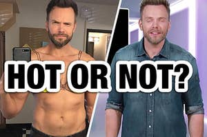 Joel McHale being hot and then being goofy