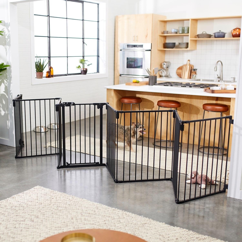 A dog gate.